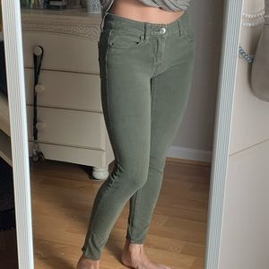 Army green AE jeggings